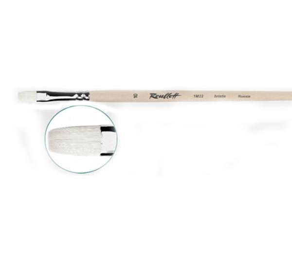 Купить Кисть синтетика белая №12 овальная Roubloff 1B32 длинная ручка, Россия