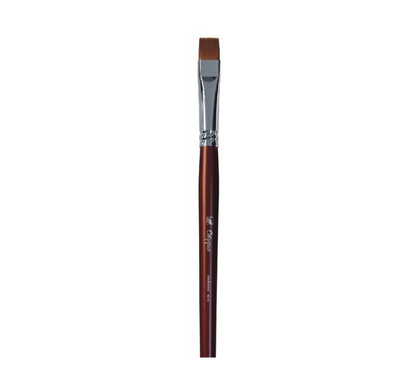 Купить Кисть синтетика №12 плоская Альбатрос Студио длинная ручка, Россия
