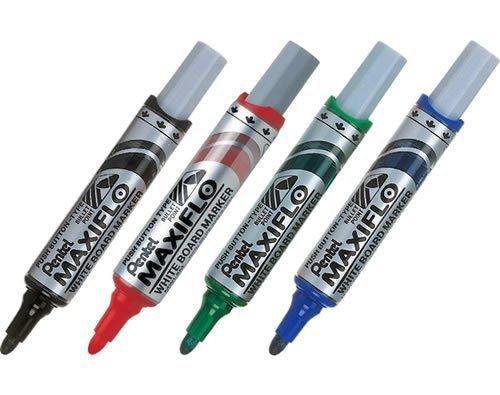 Купить Маркер для досок с жидкими чернилами и кнопкой подкачки чернил Pentel Maxiflo 4 мм, черный, Япония