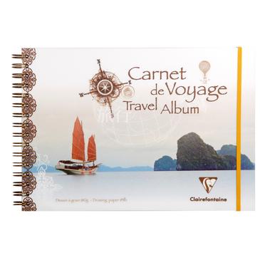 Купить Альбом для набросков на спирали Clairefontaine Garnet voyage 20х20 см 30 л 180 г, Франция