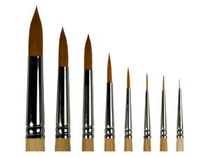 Купить Кисть синтетика №7 круглая ЦТИ длинная ручка, Россия