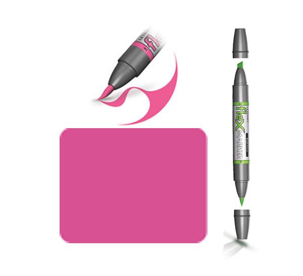 Купить Маркер спиртовой FLEXMARKER цв. M555 розовый насыщенный, Winsor & Newton