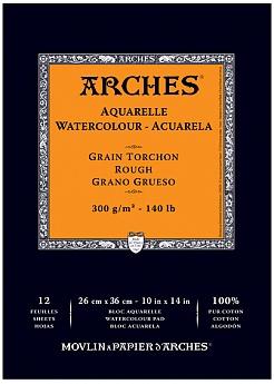 Купить Альбом-склейка для акварели Arches Torchon 29, 7х42 см 12 л 300 г, Франция