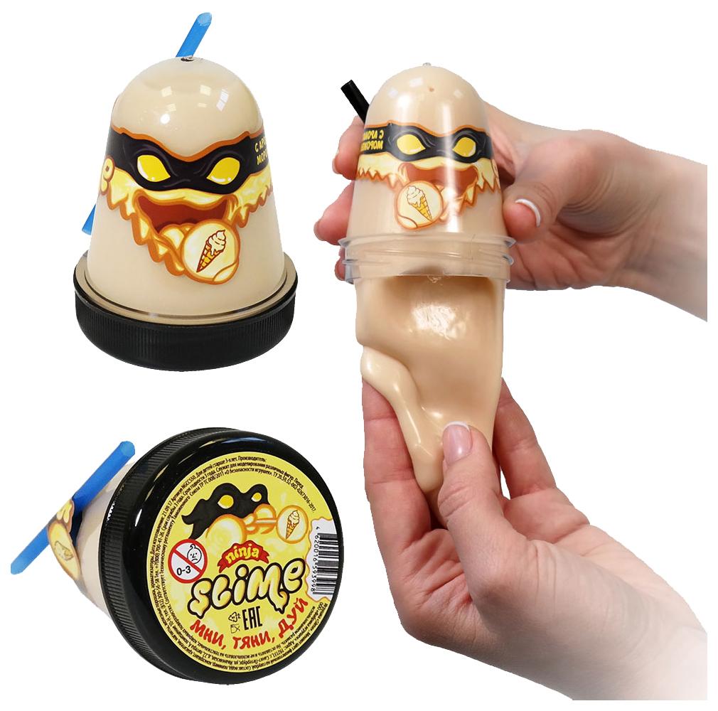Купить Игрушка Slime Ninja, с ароматом мороженого, 130 гр, Волшебный мир, Россия