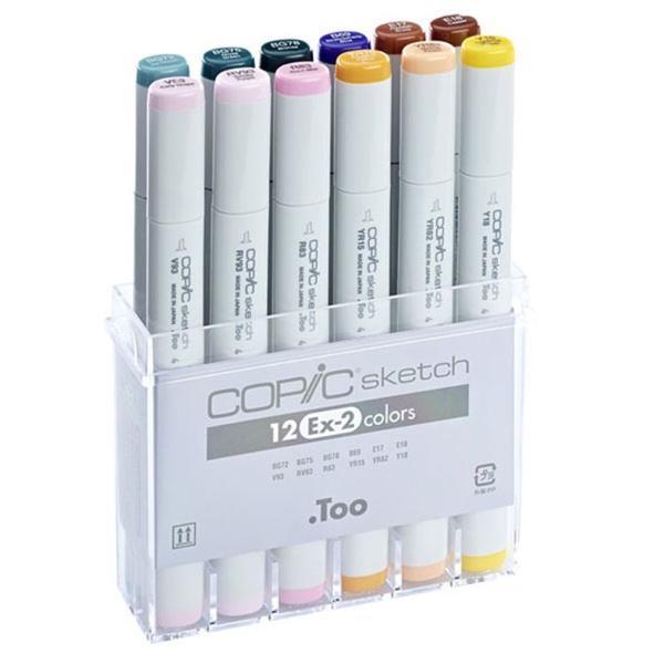 Купить Набор маркеров Copic Sketch EX-2 12 шт, Copic Too (Izumiya Co Inc), Япония