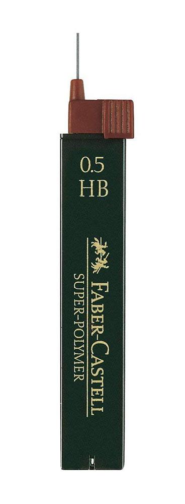 Купить Набор грифелей для механического карандаша Super Polymer 12 шт, 0, 5 мм HB, Faber–Сastell, Германия