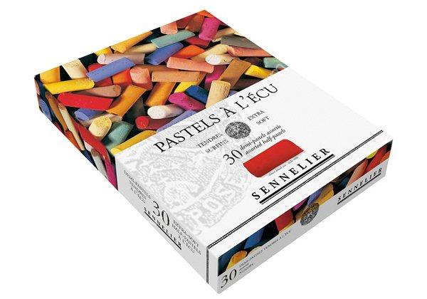 Купить Набор сухой пастели Sennelier A LECU 30 цв 1/2, в картонной коробке, Франция