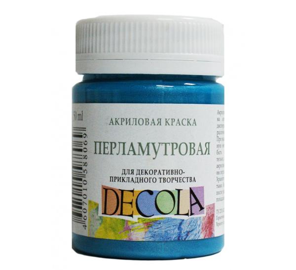 Купить Акрил Decola 50 мл перламутровый Бирюзовый, Россия