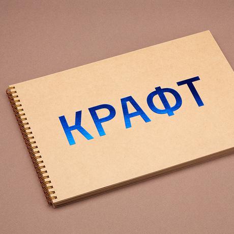 Купить Скетчбук на пружине КРАФТ А4, Подписные издания, Россия