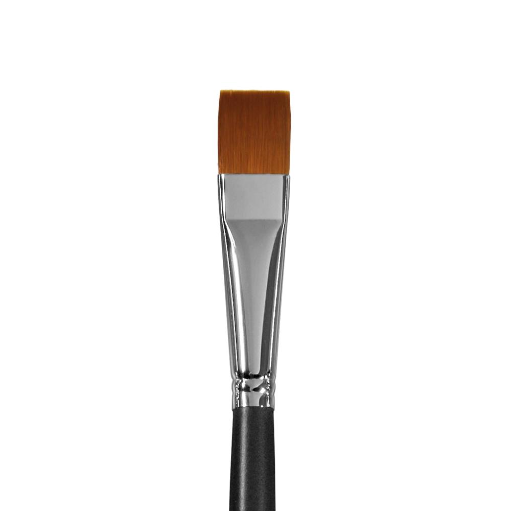 Купить Кисть синтетика №18 плоская Альбатрос Профи длинная ручка, Россия