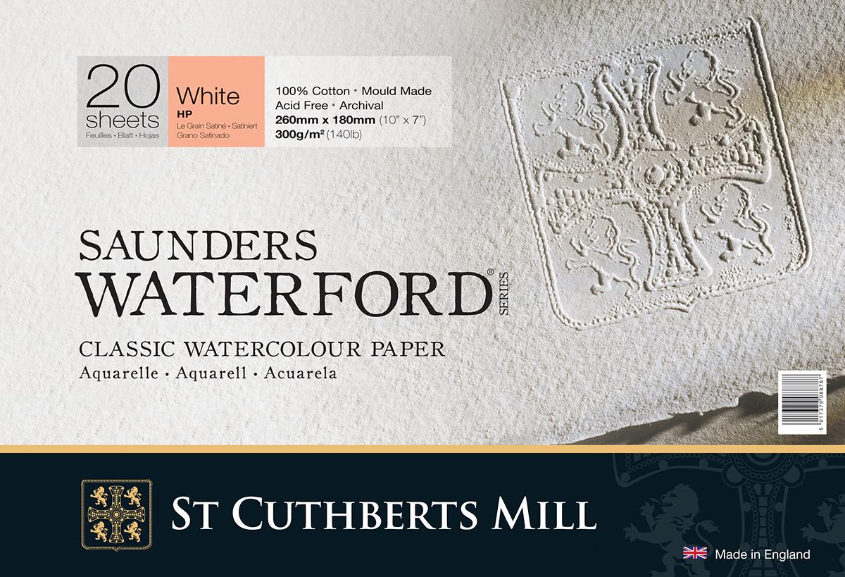 Купить Альбом-склейка для акварели Saunders Waterford H.P. мелкое зерно 18х26 см 20 л 300 г белый, St Cuthberts Mill, Великобритания