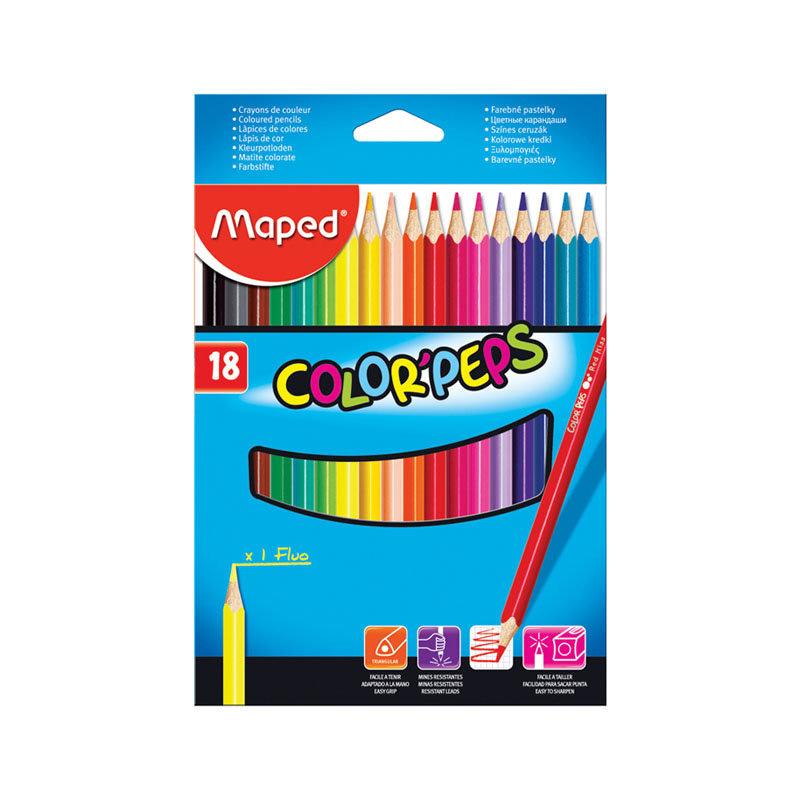 Купить Набор карандашей цветных Maped Color Peps 18 цв в картоне, Франция