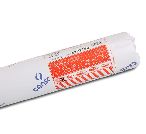Купить Бумага для черчения Canson Dessin J.A. 1, 5x10 м 200 г малое зерно, в рулоне, Франция