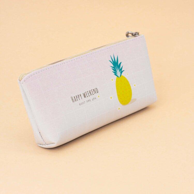 """Пенал """"Fruits pineapple"""", white"""