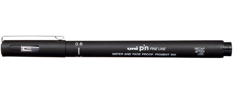 Купить Линер UNI PIN06-200 (S) 0, 6 мм, черный, Япония