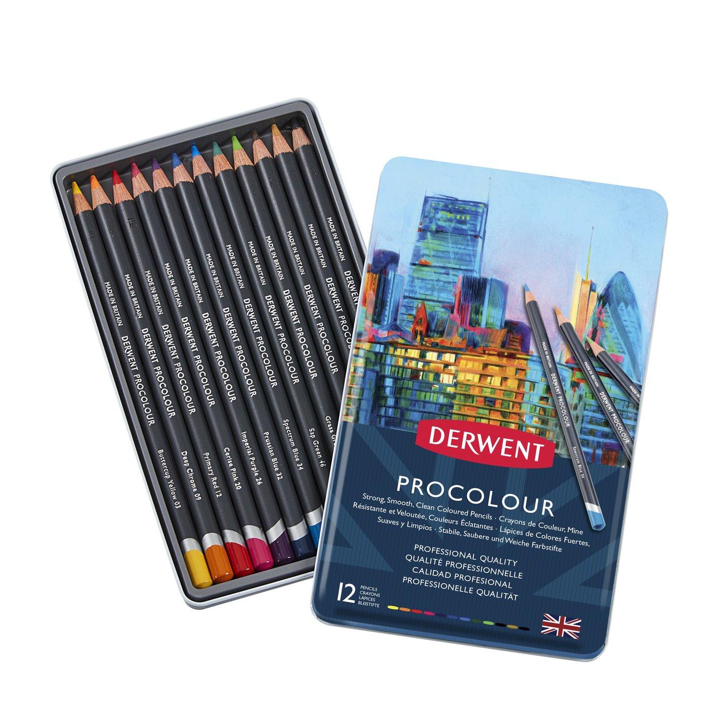 Купить Набор карандашей цветных Derwent Procolour 12 цв в метал. коробке