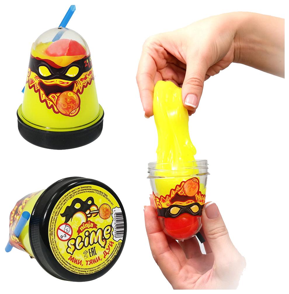 Купить Игрушка Slime Ninja, 2 в 1 смешивай цвета, жёлтый, 130 гр, Волшебный мир, Россия