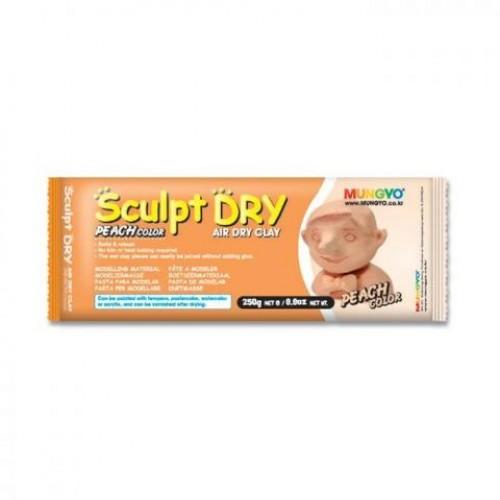 """Глина для моделирования Mungyo """"Sculpt Dry"""" 250 г персиковая"""