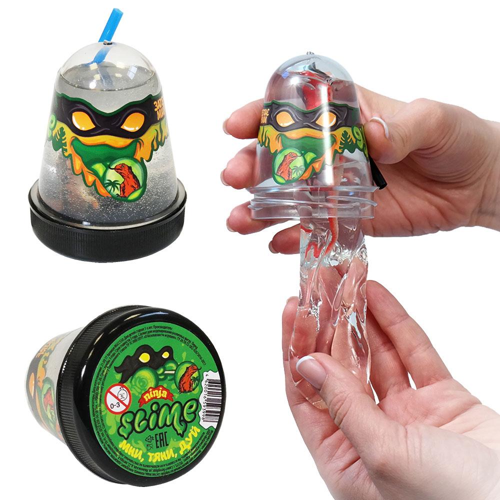 Купить Игрушка Slime Ninja, затерянный мир: ящерица, 130 гр, Волшебный мир, Россия