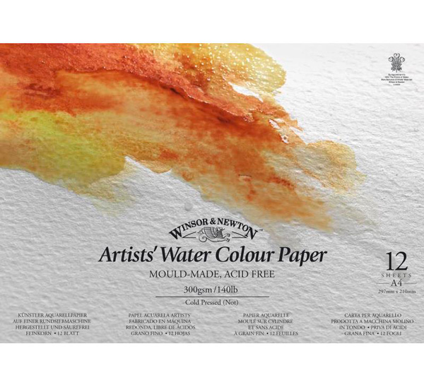 "Альбом для акварели на спирали Winsor&Newton ""Artists Water Colour paper"" А5 12 л 300 г"