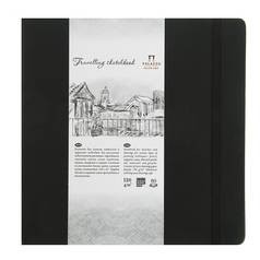 "Блокнот для эскизов Лилия Холдинг ""Travelling sketchbook"" 25х25 см 80 л 130 г Черный"