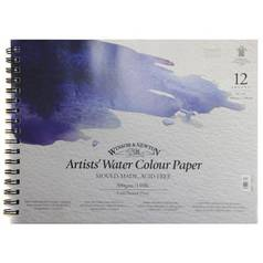 "Альбом для акварели на спирали Winsor&Newton ""Artists Water Colour paper"" А3 12 л 300 г"