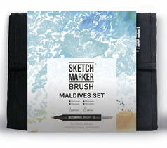 Набор маркеров Sketchmarker Brush 36 Maldives Set- Мальдивы (36 маркеров+сумка органайзер)