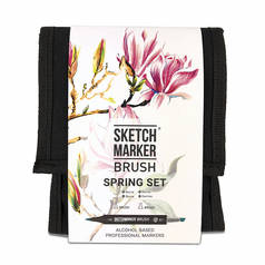 Набор маркеров Sketchmarker Brush 12 Spring Set- Весна (12 маркеров+сумка органайзер)