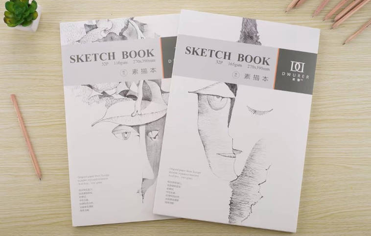 "Скетчбук Potentate ""Sketch Book"" 32 листа, формат 270х390мм, 165г/м2, склейка, м/з"