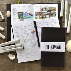 "Ежедневник Maxgoodz ""The Journal"" 2 тетради  B5 100 г Смола"